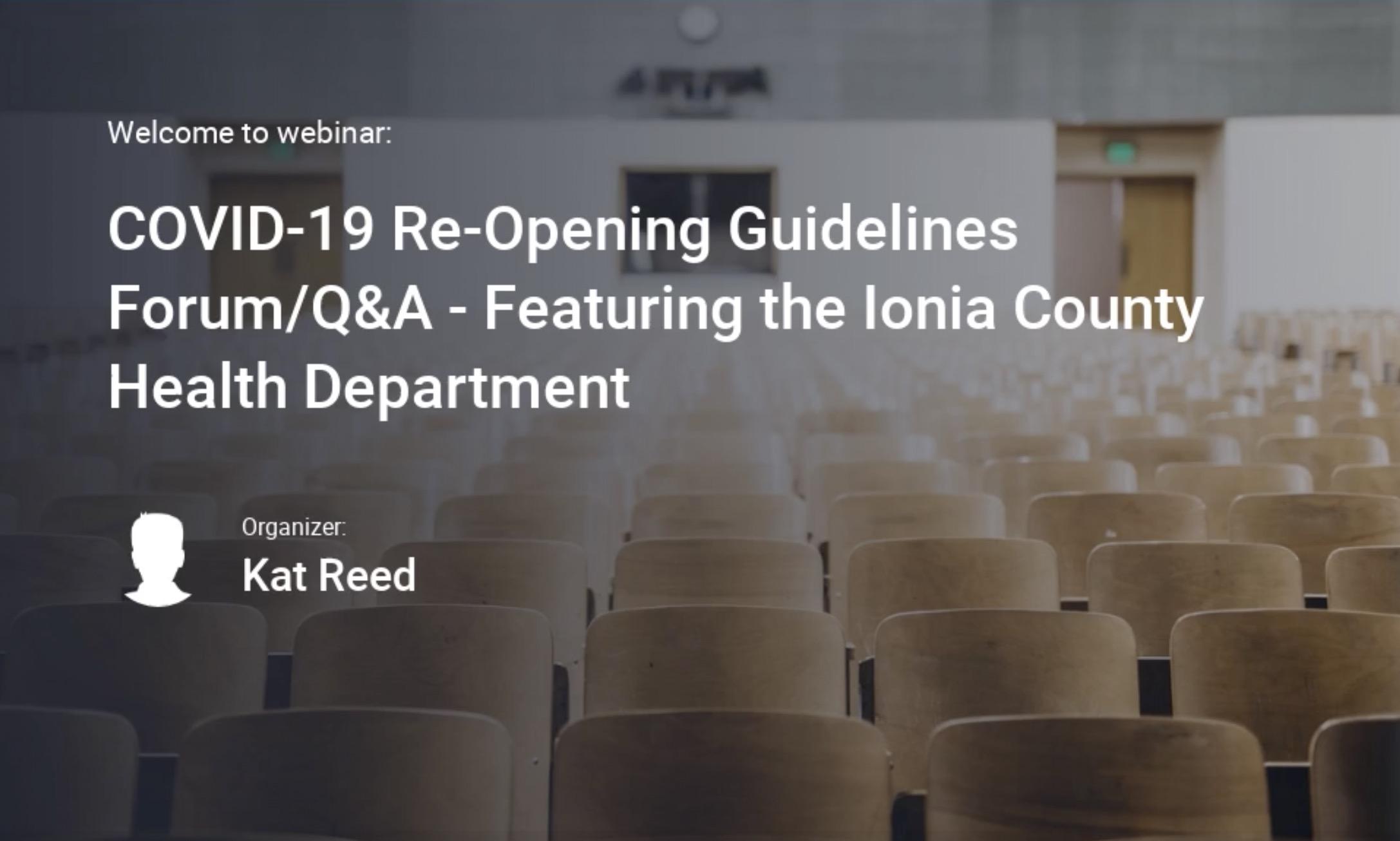 Business Re-opening Guidelines webinar